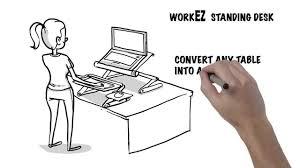 Standing Desk Conversion Kit by Laptop Standing Desk Workez Standing Desk Ergonomic Laptop