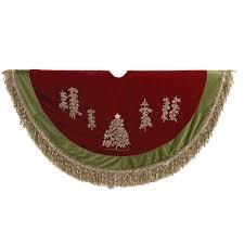 72 Inch Gold Christmas Tree Skirt by Amazon Com Kurt Adler 50 Inch Burgundy Ribbon Trees Tree Skirt