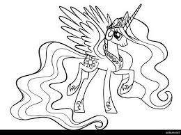 My Little Pony Coloring Pages Princess Celestia In A Dress Of 5