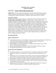 resume description of preschool daycare resume exles time nanny resume exle personal