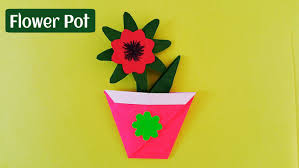 How To Make A Easy And Simple Paper Flower Pot