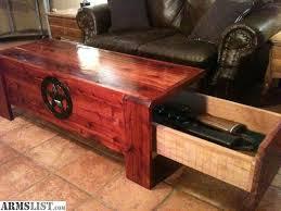 coffee table with gun storage pinteres