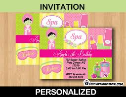 Spa Birthday Invitation Card