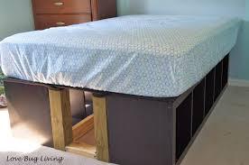 Platform Bed Ikea by Love Bug Living Ikea Expedit Hack Platform Bed