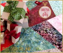 72 Inch Christmas Tree Skirt Pattern by Batik U0026 Velvet Crazy Patch Tree Skirt Christmas In July With