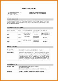 Resume Sample For Lecturer Post Fresher New Cv Format Teachersume Pdf India
