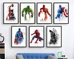 super hero wall art etsy