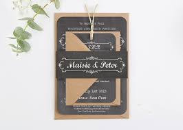 Chalkboard Wedding Invitations Bundle