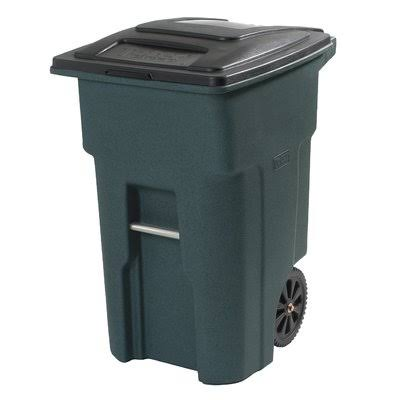 Toter Residential Heavy Duty Trash Can - Greenstone, 32gal