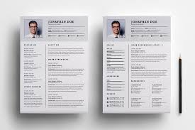 100 Resume Two Pages Professional Two Page Resume Set Templates Creative Market