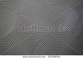 tile adhesive notched trowel patterns adhesive stock illustration