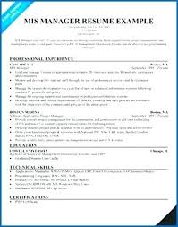 Resume Sample For Mis Manager Packed With 7 Produce Perfect Reporting 578