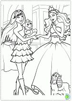Barbie In The Princess And Popstar Coloring Pages DinoKidsorg