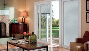 French Patio Doors With Built In Blinds by Between The Glass Blinds For Windows Pella