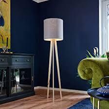 lucande dreibein stehle nida design modern aus holz ua für wohnzimmer esszimmer 1 flammig e27 a stehleuchte floor l