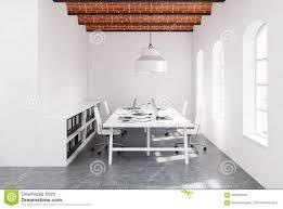 100 Brick Ceiling Open Space Office Concrete Floor Stock Illustration