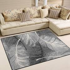 JSTEL INGBAGS Super Soft Modern White Feather Area Rugs