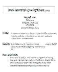 Examples Of Career Objectives On Resume Student Objective For With Sample