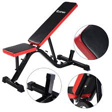 Goplus Adjustable Decline Bench Curved Sit Up Board Workout Slant Bench WSpeed Ball And Pull Ropes