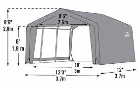 shed in a box peak style portable storage shed with gray cover