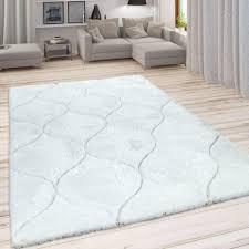 rugs carpets moderner design teppich hochflor shaggy wohnzimmer grau creme weiß home furniture diy itkart org