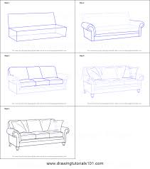 How To Draw Sofa Step By Printable Drawing Sheet Print Learn