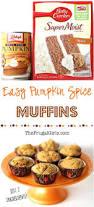 Libbys Pumpkin Pie Mix Muffins by Pumpkin Spice Muffins Recipe With Cake Mix Just 2 Ingredients