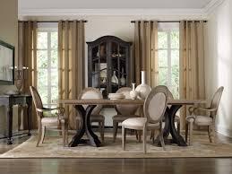 Hooker Furniture Dining Room Corsica Dark Rectangle Pedestal ...