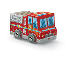 Crocodile Creek Mini Fire Truck Vehicle Puzzle | The Animal Kingdom
