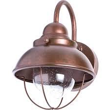sea gull lighting sebring weathered copper outdoor wall lantern