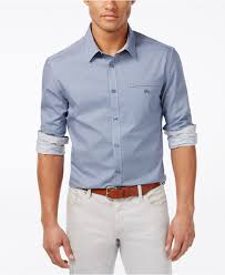 kenneth cole reaction men u0027s slim fit dobby long sleeve shirt in