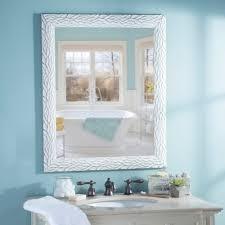 Kirklands Home Bathroom Vanity by Distressed White Bark Framed Mirror 27 5x33 5 Kirklands