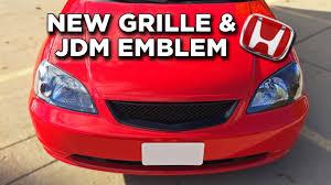 100 Em2 Design Installing A New Grille JDM Honda Emblem Project EM2