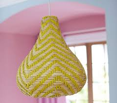 Pottery Barn Bedroom Ceiling Lights by Margherita Missoni Yellow Basket Pendant Pottery Barn Kids
