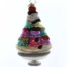 Christopher Radko SUPER SUNDAE Glass Ice Cream Christmas