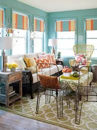 Furniture Stylish Sunroom With Metal Chairs And Wicker Couch Chair
