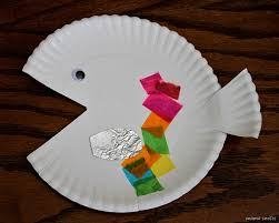 Simple Paper Plate Fish Craft To Go Along With The Book Rainbow By