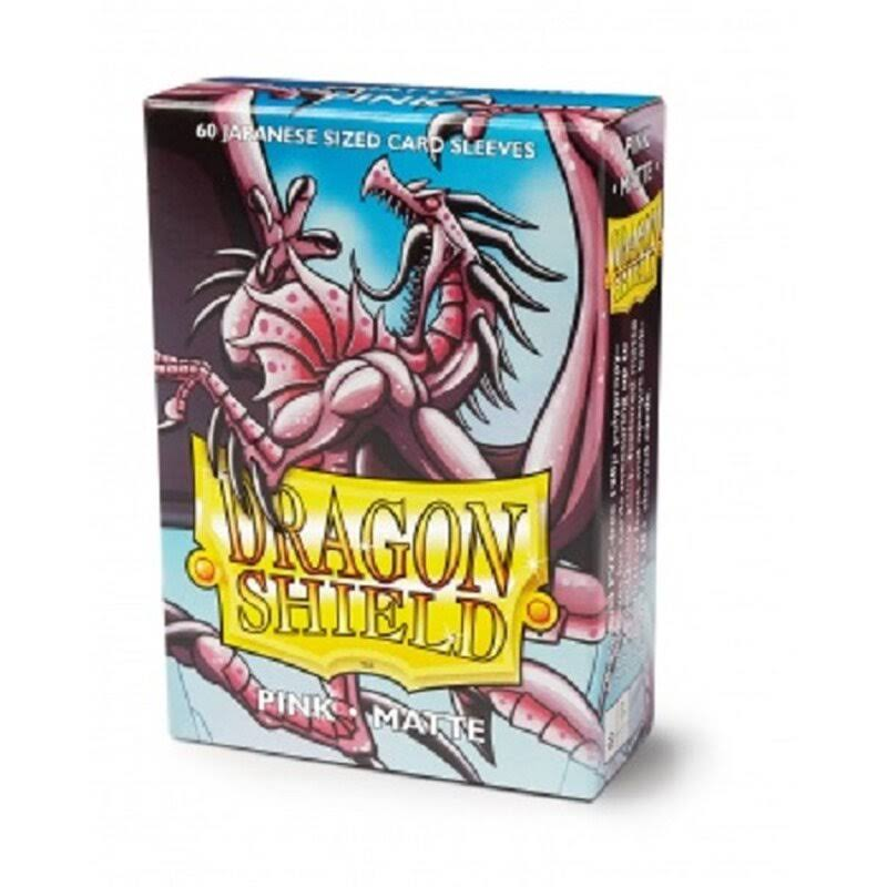 Yugioh Dragon Shield Mini Deck Protector Sleeves - Matte Pink, 60pcs