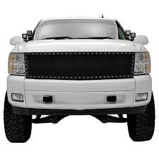 Chevy Silverado Wire Mesh Replacement Grille Evolution Blk 2007-2013