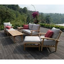 Sams Patio Seating Sets by Joshua Lane Teak Outdoor 7 Pc Patio Seating Set It 61049t Boutiqify