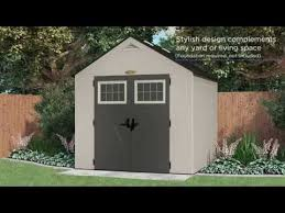 Suncast Horizontal Storage Shed Assembly by Bms8700 Suncast 378 Cu Ft Tremont 8 X 7 Storage Shed Youtube