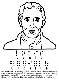 Louis Braille Coloring Page