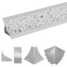 abschlussleiste küche arbeitsplatte küchenleiste granit