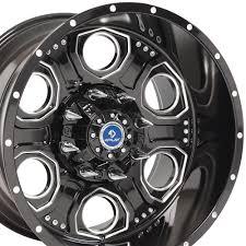 100 Rims For Ford Trucks SET 20x12 4Play Revolver Wheels Fit 6Lug D Black Machd