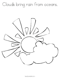 Simple Sunflower Coloring Pages Sun Pictures Page Color Free And Moon Col