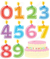 number birthday candles clipart 1