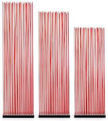 skydesign roter raumteiler 200 cm hoch schwarze basis