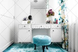 100 Modern White Interior Design White Feminine Dressing Room With Minimalist Vanity