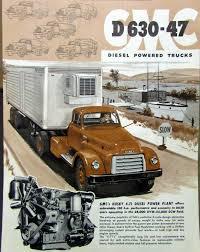100 1954 Gmc Truck For Sale GMC Diesel Powered Model D 630 47 Original Data Sheet