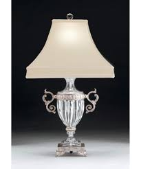 Swarovski Crystal Lamp Finials by Schonbek 10120 Dynasty 27 Inch High Table Lamp Capitol Lighting